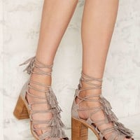 Jeffrey Campbell Linares Suede Sandal - Taupe