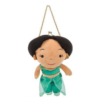 Licensed cool Aladdin Princess Jasmine Plush Girl Doll Coin Purse Hand Bag Chain Disney Store