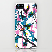 Rainbow Splatter Tree iPhone & iPod Case by M. Lantz Art