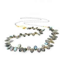 Marquis Cut Labradorite Layering Necklace - Necklaces - Shop