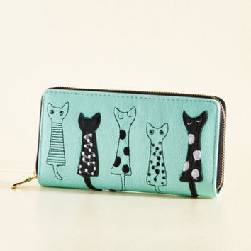 The Cash Meow Wallet | Mod Retro Vintage Wallets | ModCloth.com