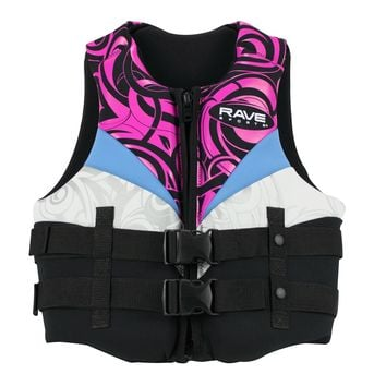 RAVE Sports Women's Large Neoprene Life Vest Pink/White/Black
