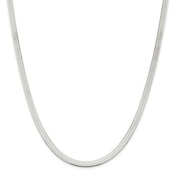 925 Sterling Silver 5.25mm Magic Herringbone Chain Necklace, Bracelet or Anklet