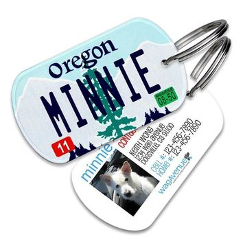 Oregon License Plate Pet Tag
