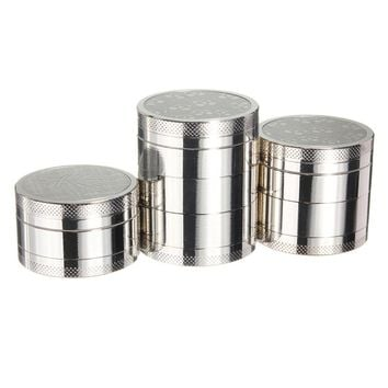 3 4 5 Layers Herb Spice Grinder Metal Plate Magnetic Pollinator 40mm Hand Hookah Pipe Tobacco Smoking Pipe Crusher Smoke Filter