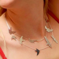 Silver Birds necklace