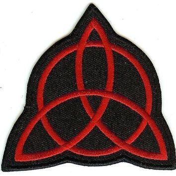 Led Zeppelin Iron-On Patch Red Trinity Logo