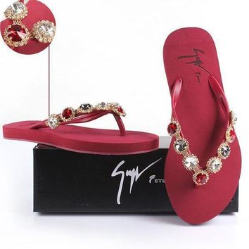 Giuseppe Zanotti Women Rhinestone Slippers Sandals Shoes
