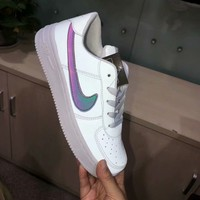 """""""Nike Air Force 1"""" Unisex Casual Fashion Reflective Low Help Plate Shoes Couple Sneakers"""