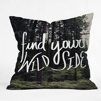 Leah Flores Wild Side Throw Pillow
