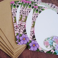 Garden Floral stationery letter set