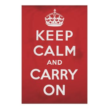 Keep calm and carry on vintage poster