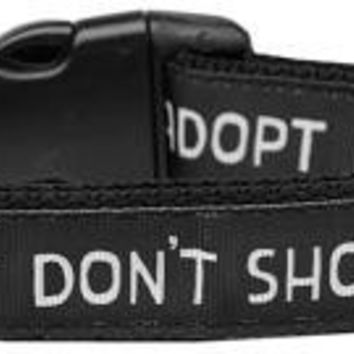 Adopt Don't Shop Nylon Dog Collar Large