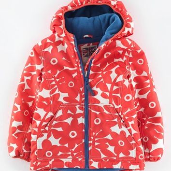 Girl's Mini Boden Fleece Lined Water Resistant Anorak,