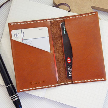 Personalized Leather Card Holder