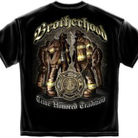 NEW T-SHIRT FIREFIGHTER BROTHERHOOD FREE SHIPPING SIZE MEDIUM