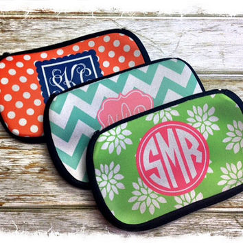 Personalized Cosmetic Bag Monogrammed by SassySouthernGals on Etsy