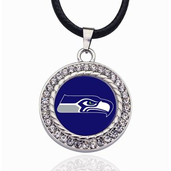 Wimpy kid Seattle Seahawks Pendant Necklace Best Gift for /Women/Girl/Men/Mom Adjustable Necklace 2pcs/lot