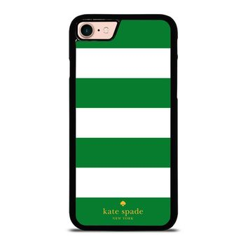 KATE SPADE GREEN STRIPE iPhone 8 Case