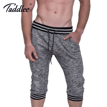 Cotton Men's Shorts Active Jogger Casual Gasp Short Bottoms Fitness Cargo Boxer Trunks Calf-Length