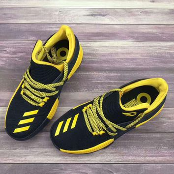 ADIDAS Lillard 3 basketball sneakers Running shoes black yellow shoelace