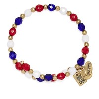 Team USA Beaded Wrap