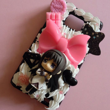 Custom Kawaii Decoden Puella Magi Madoka Magica Kawaii phone case for iPhone 4/4s, 5, samsung galaxy S2 S3 S4, Ipod Touch