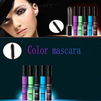 1Pcs 5 Colors Mascara Waterproof Professional Volume Eye Mascara Curler Eyelash Curling waterproof Mascara