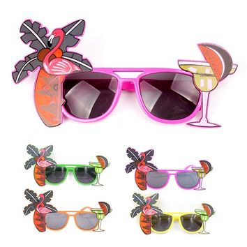 Beach Decoration Eye Glasses Bar Carnival Annual Meeting Funny Props Orange Lemonade Party Glasses for Unisex children and adult