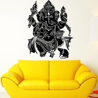 Wall Sticker Vinyl Decal God Ganesha India Hindu Religion Unique Gift (ig1858)