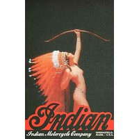 Indian Motorcycles Vintage Ad Art Poster 11x17