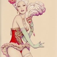 art, beauty, burlesque, carnival, corset, couture - inspiring picture on Favim.com