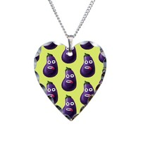Funny Cartoon Eggplant Pattern Necklace