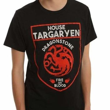 GAME OF THRONES TARGARYEN SHIELD LOGO T-SHIRT