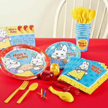 Max & Ruby Party Supplies for 8 (Red)
