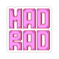'Mad Rad' Sticker by fawned