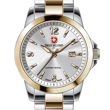 Swiss Military by R 50503 357J A Alpha Unisex Watch Two-Tone Stainless Steel
