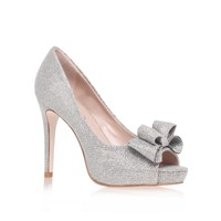 Kurt Geiger | CAROLINE Silver High Heel Court Shoes by Miss KG