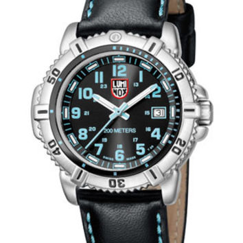 Luminox Ladies Steel Colormark - Black/Blue - Leather Strap - 38mm - Retired