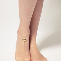 ASOS | ASOS Fine Chain Toe Post Anklet with Shell Detail at ASOS