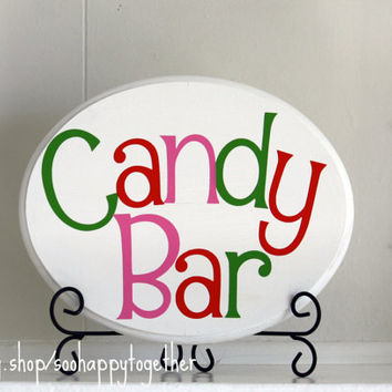 Birthday Candy Bar/Buffet Sign by soohappytogether on Etsy