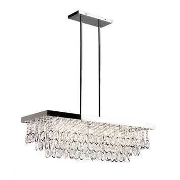 Artcraft AC10116 Elegante Chrome Five-Light Rectangular Mini Chandelier