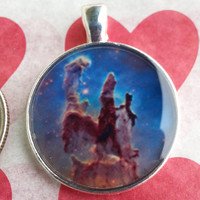m08 Gas Pillars in the Eagle Nebula Picture Pendant