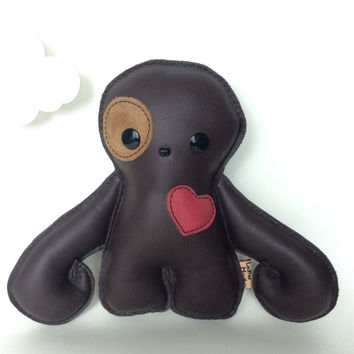 Leather Decor Pillow, Sloth ornament, plush accessory, snuggle doll, kids room,by leather monsters for Etsy