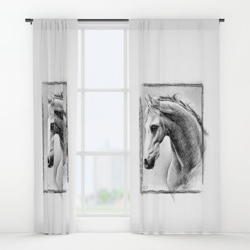 Horse 1 Window Curtains by edrawings38