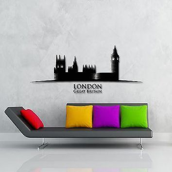 Wall Stickers Vinyl Decal London England Great Britain Europe Tower Unique Gift (z1747)