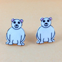 Polar Bear Earrrings