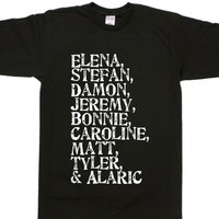 The Vampire Diaries-Unisex Black T-Shirt