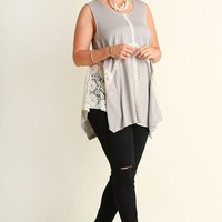 PLUS SIZE Sleeveless A Line Top