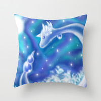 Pokemon - Dragonair Throw Pillow by Susaleena
